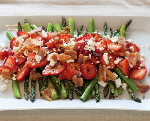 Roasted Asparagus Salad with Fresh Winter Strawberries