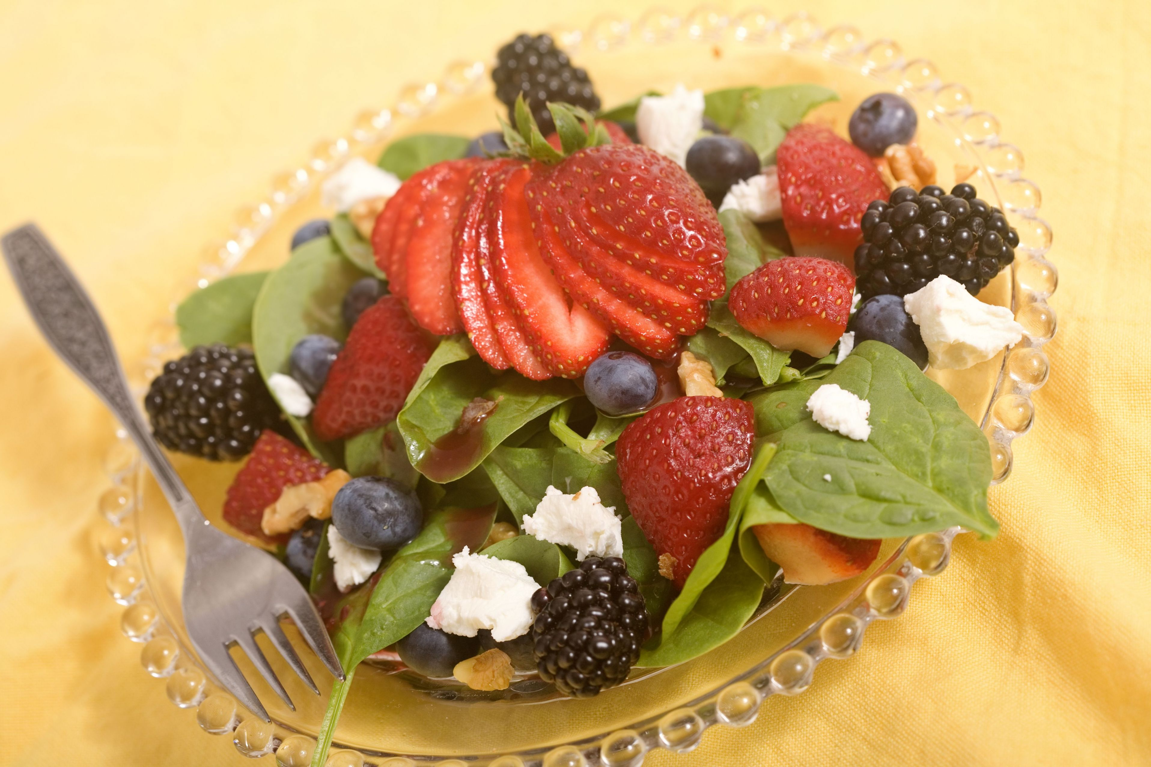 Florida Strawberry Spinach Salad