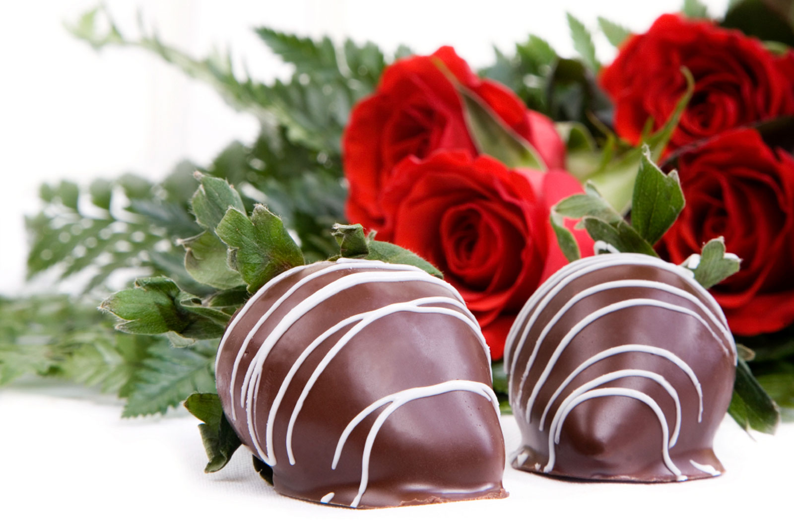 Chocolate Dipped Strawberries And Roses