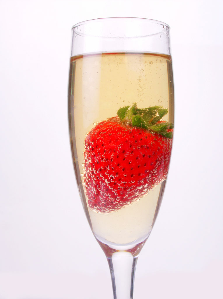 Strawberry and Sparkling Wine
