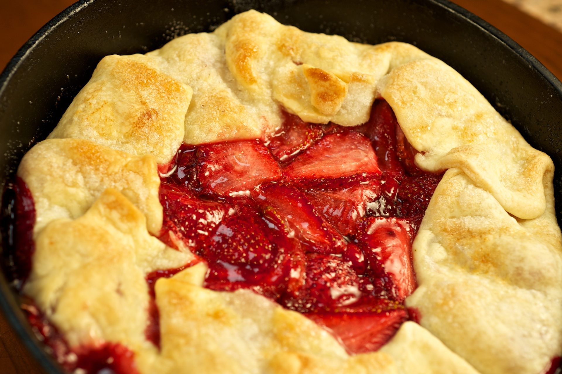Rustic Strawberry Tart