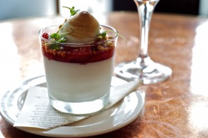 Roasted Strawberry Panna Cotta