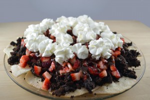 Fudgy Strawberry Brownie Nachos