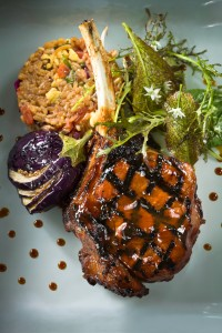 Tuyo Veal Chop with Florida Strawberry Ancho Chili Plum Sauce