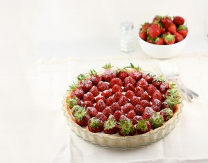 Strawberry Mascarpone Whipped Cream Tart by Jamie Schler.