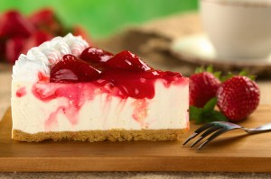 Strawberry Cheesecake with Strawberry Syrup