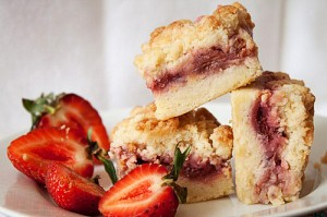 These Strawberry Crumb Bars come to us from Andie Mitchell.